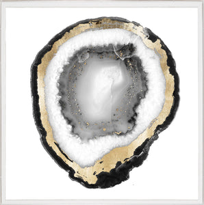 Natural Curiosities Black and White Geode 1 Artwork
