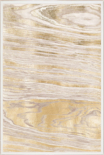 Natural Curiosities Gold Wood Grain 1 Artwork