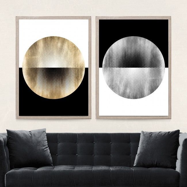 natural curiosities halftone circles in room
