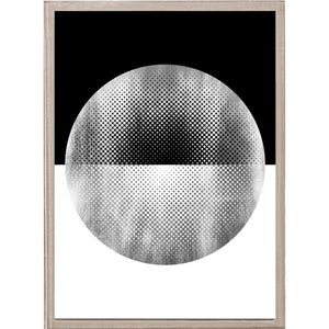 natural curiosities halftone circles silver