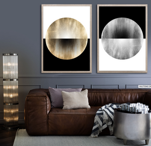 natural curiosities halftone circles in room fine art large silver