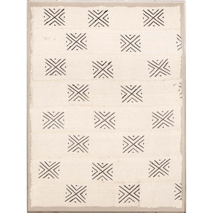 natural curiosities mali textile 2 black white wall hanging art