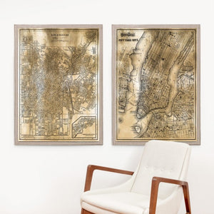 natural curiosities new york gold map styled