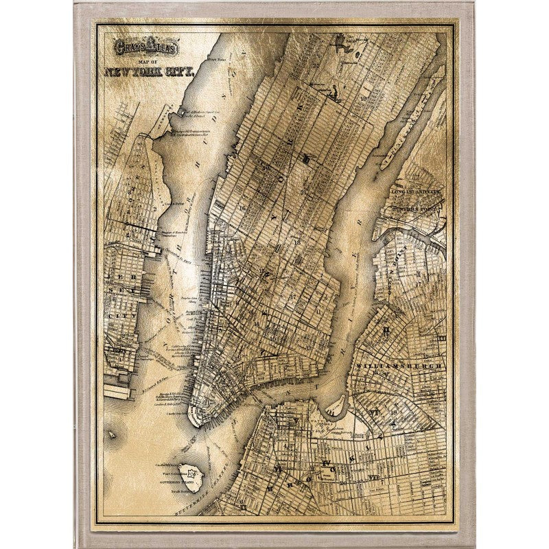 natural curiosities new york gold map