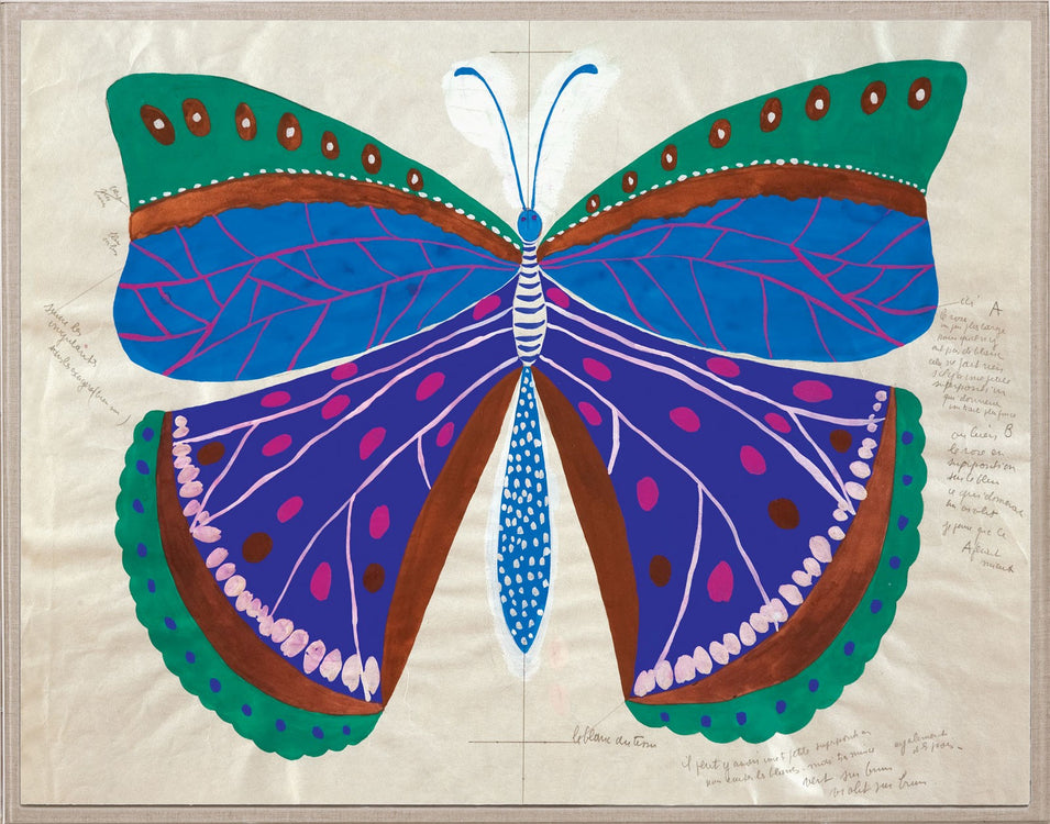 Natural Curiosities Paule Marrot Butterfly Blue Artwork