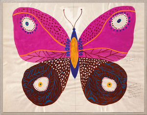 Natural Curiosities Paule Marrot Butterfly Pink Artwork