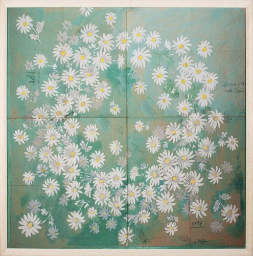 paule marrot daisies natural curiosities textile artwork wall