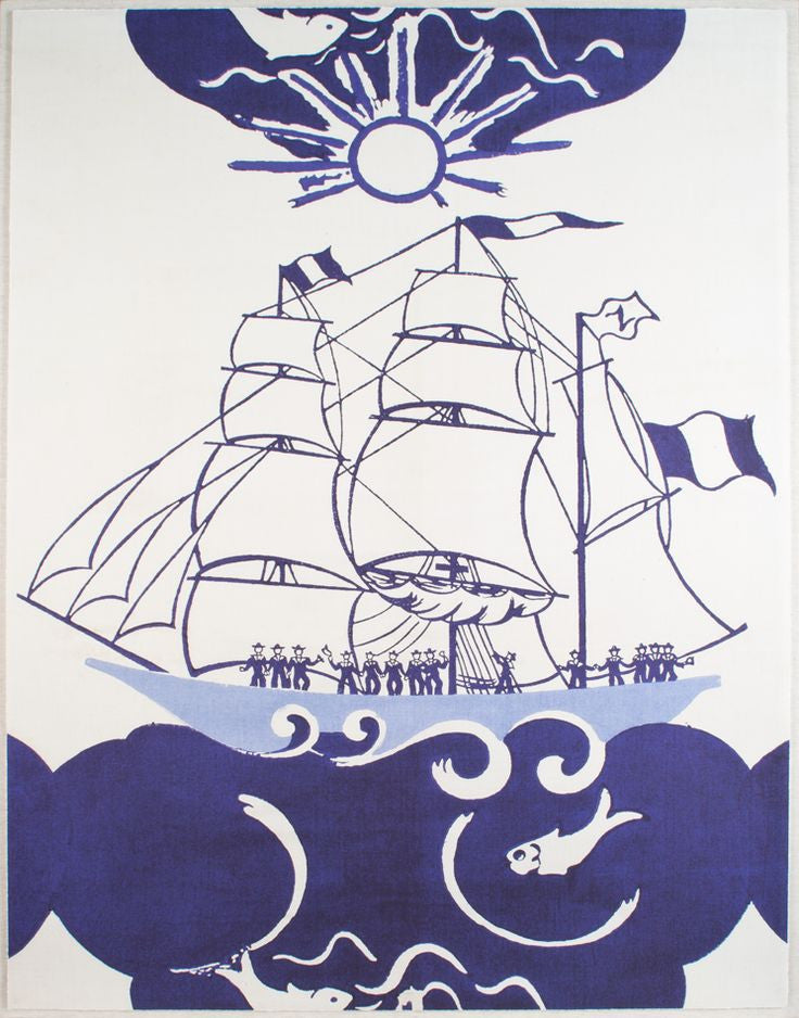natural curiosities paule marrot marius artwork blue white nautical