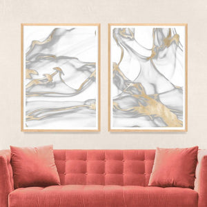 natural-curiosities-prairie-diptych-room-view artwork gold silver