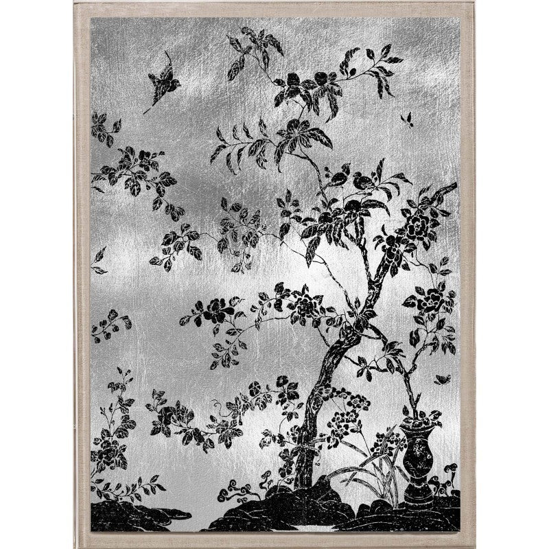 natural curiosities rococo black and silver 2 artwork tree