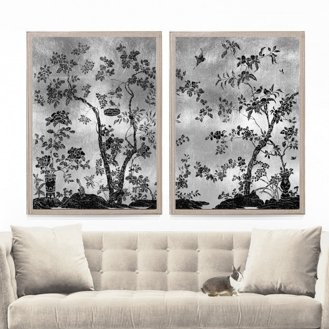 natural curiosities rococo black and silver series room view
