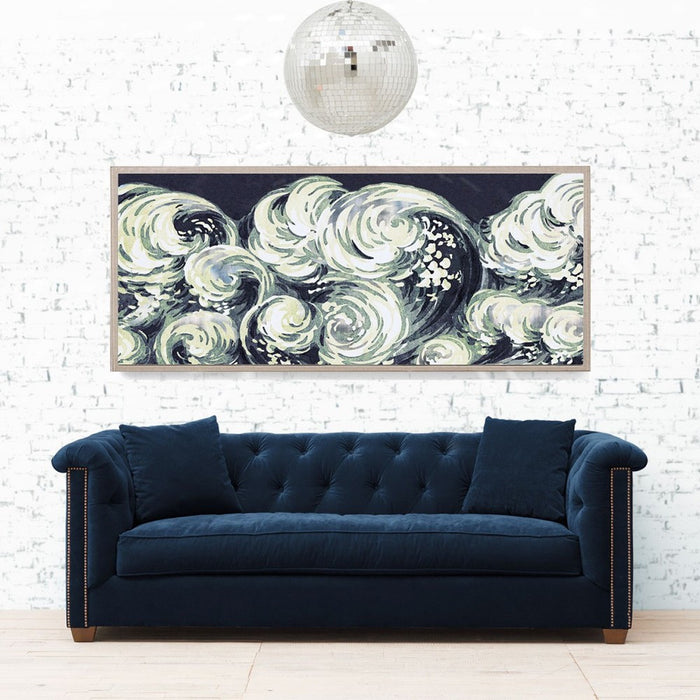 Natural Curiosities Silver Leaf Wave Artwork Room View