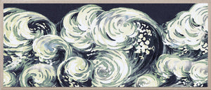 Natural Curiosities Silver Leaf Wave Artwork