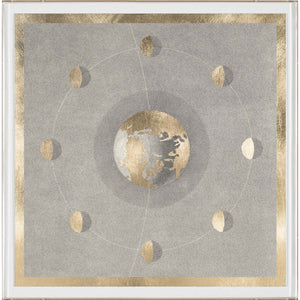 natural curiosities solaris 5 framed artwork gold sun