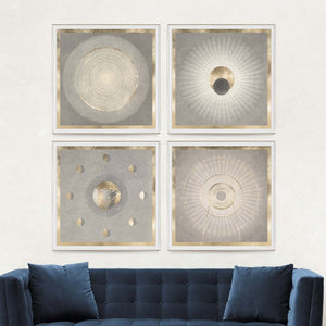 natural curiosities solaris 3 wall art paper and gold leaf room