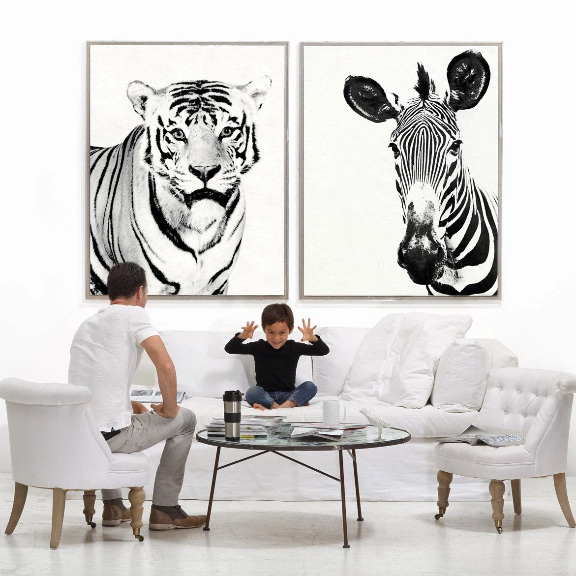 Natural Curiosities Tylinek Zebra Artwork Room View