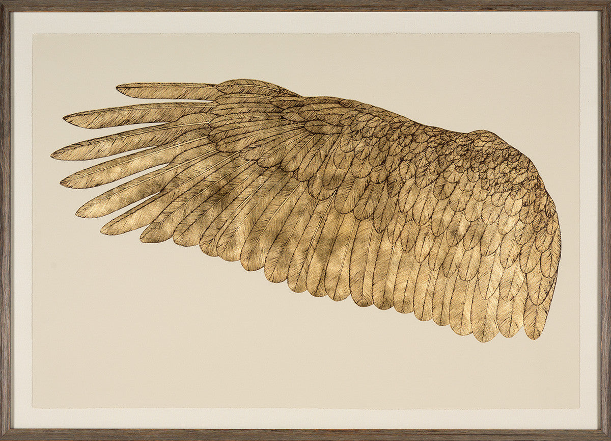 Natural Curiosities Wings of Love Gold Left Artwork