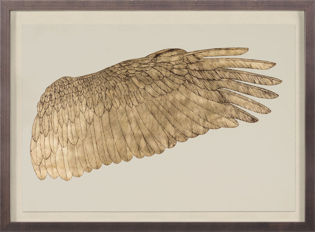 Natural Curiosities Wings of Love Gold Right Artwork