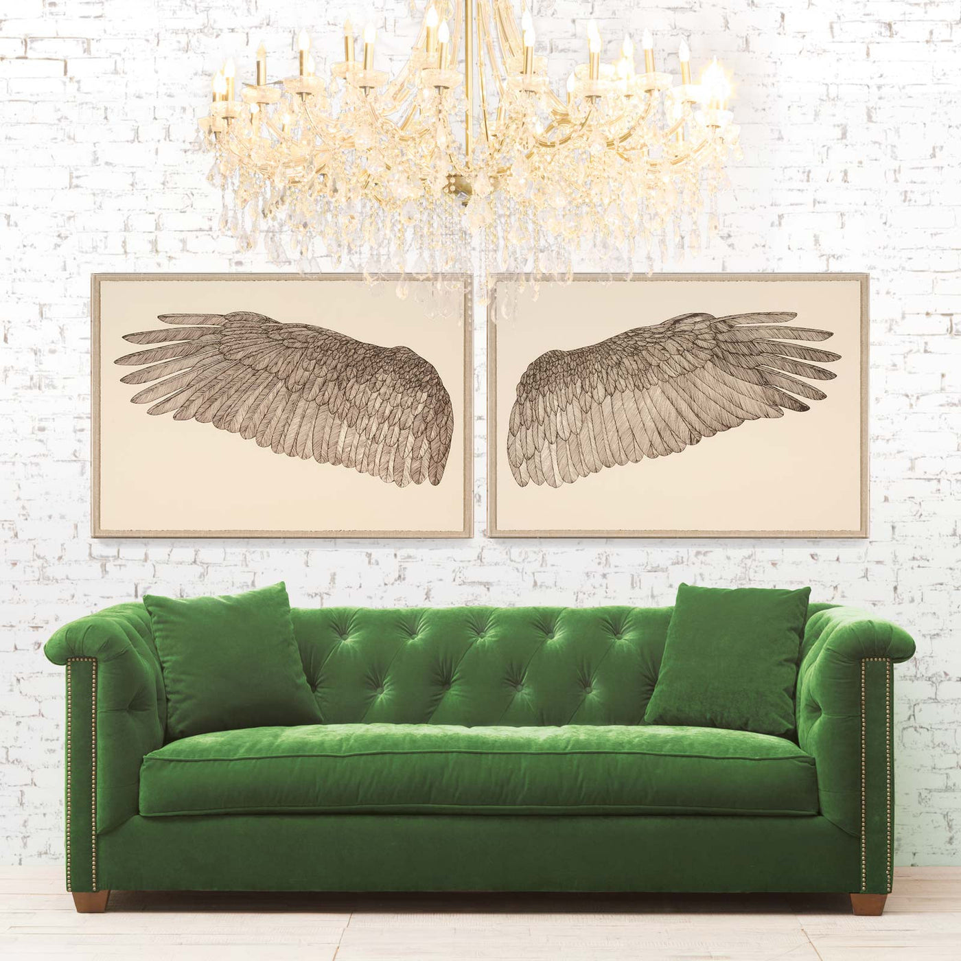 Natural Curiosities Wings of Love Left Artwork Room View