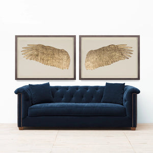 Natural Curiosities Wings of Love Gold Left Artwork Room View