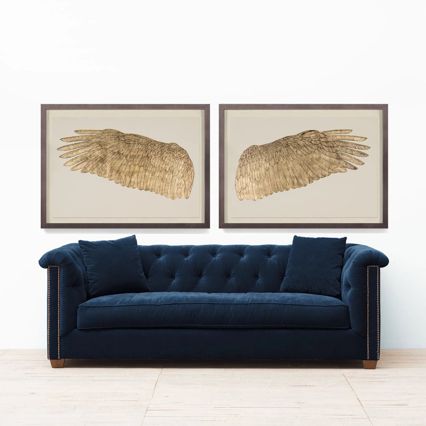 Natural Curiosities Wings of Love Gold Right Artwork Room View