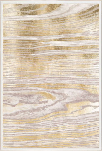 Natural Curiosities Gold Wood Grain 2 Artwork