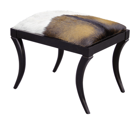 oly neta bench goatskin and black