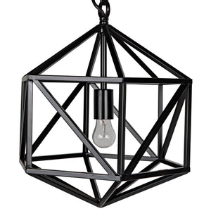 noir diamond pendant black C
