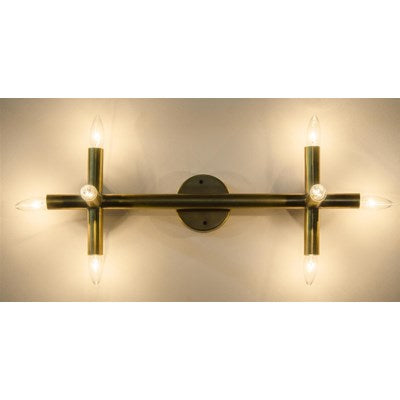 noir salome sconce antique brass