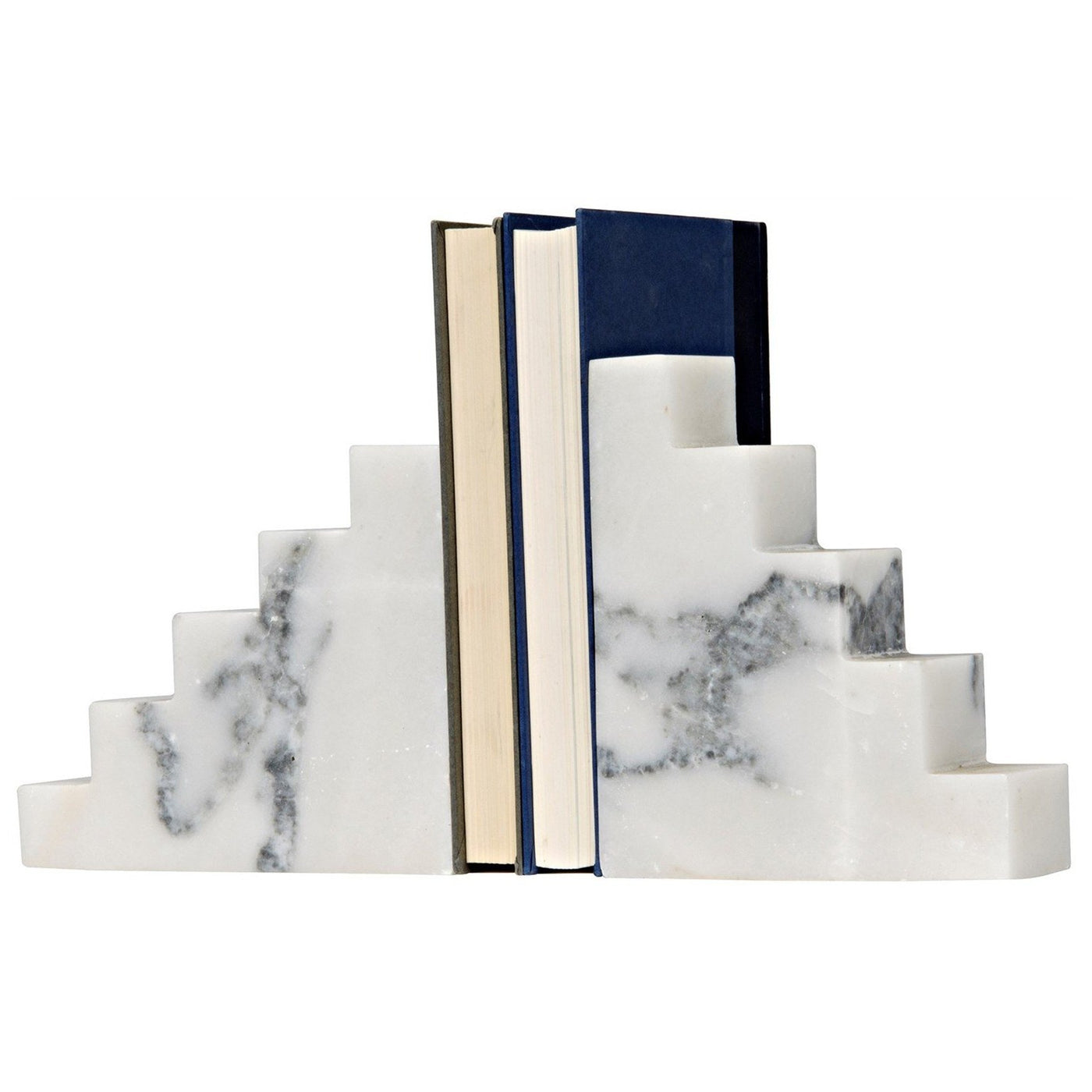 noir furniture step bookends marble accessory bookshelf