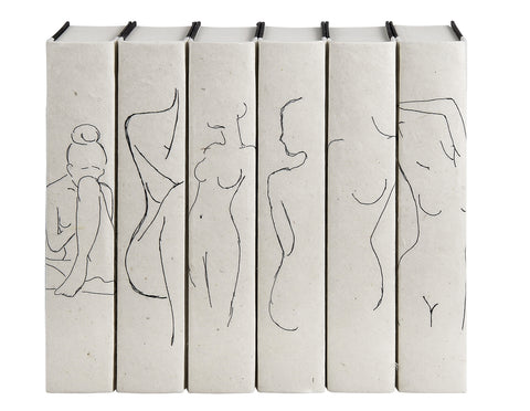 e lawrence Nude Silhouettes Book Set of 6