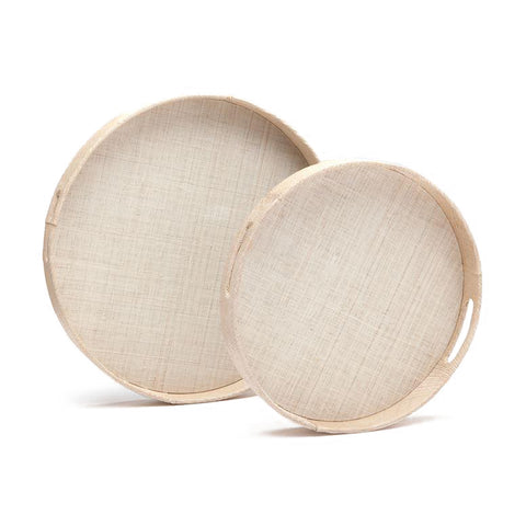 made goods faye tray set of two natural buntal