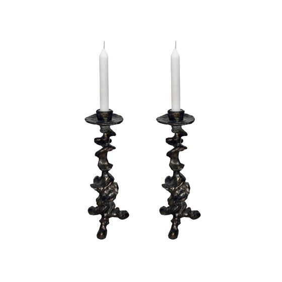 oly studio klemm candlesticks black