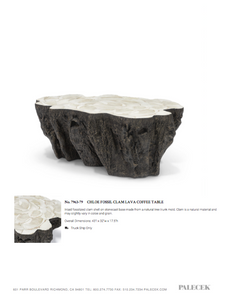 Chloe Fossil Clam Lava Coffee Table