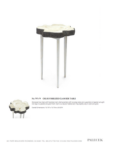 palecek chloe fossilized clam side table tearsheet