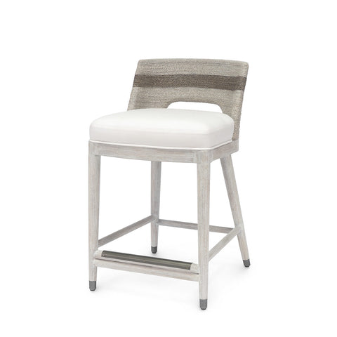 palecek fritz counter stool fog white