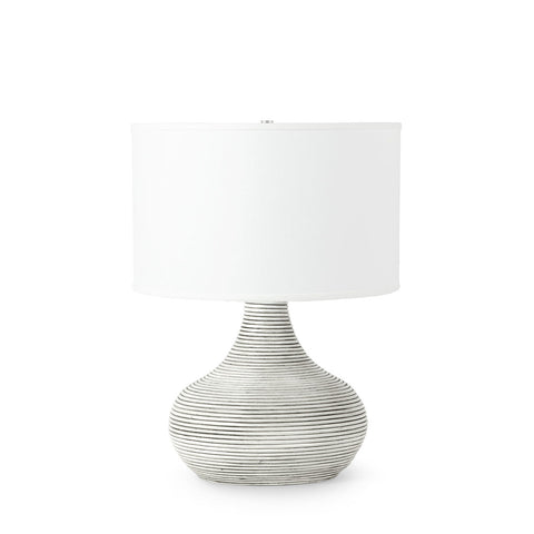 palecek hewitt table lamp short whitewash