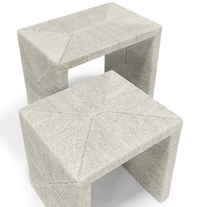 palecek woodside nesting tables fog white