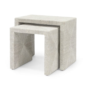 palecek woodside nesting tables set of 2 white sand