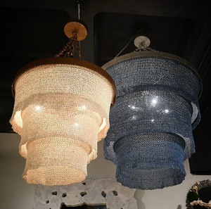 Made Goods Patricia Chandelier Dusty Blue and Silver lighting  market