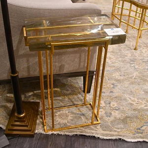 bungalow 5 prism side table gold market