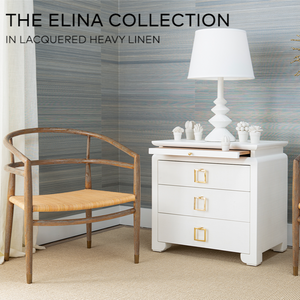 bungalow 5 Elina 3 drawer side table linen