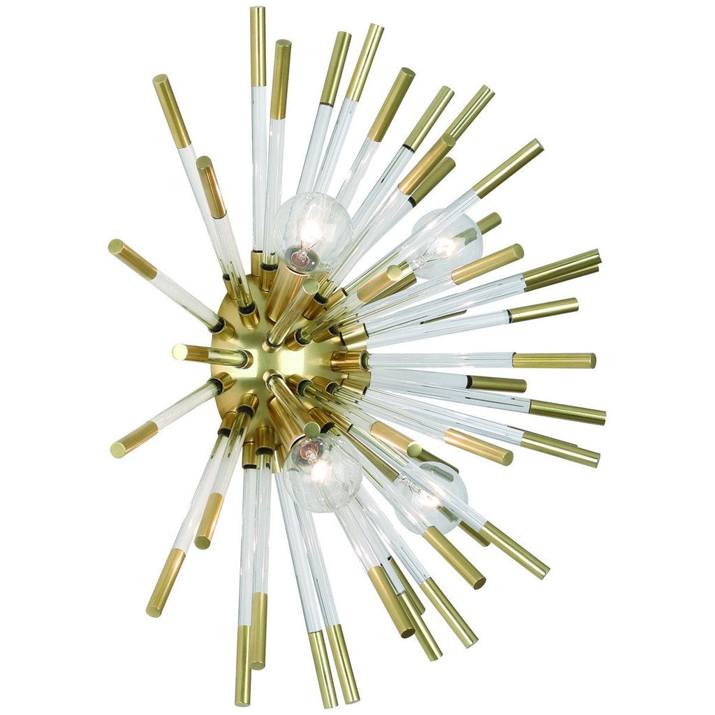 Robert Abbey Andromeda Wall Sconce In Brass No Wiring Sconces