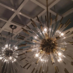 Robert Abbey Andromeda Large Chandelier In Brass