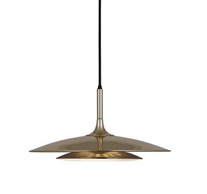 Robert Abbey Axiom Pendant Polished Gold Lighting