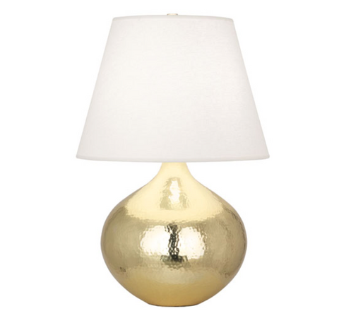 Robert Abbey Dal Table Lamp Gold  Hammered Brass Metal