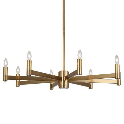 robert abbey delany round chandelier antique brass 4500