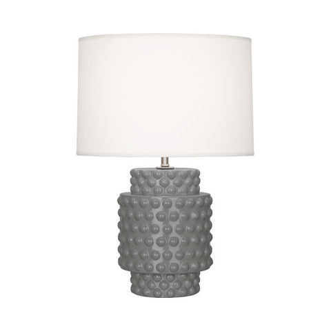robert abbey dolly accent lamp smoky taupe