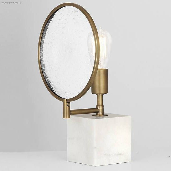 obert abbey fineas accent lamp modern brass and alabaster