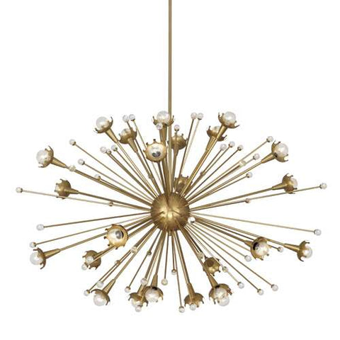 robert abbey sputnik chandelier antique brass